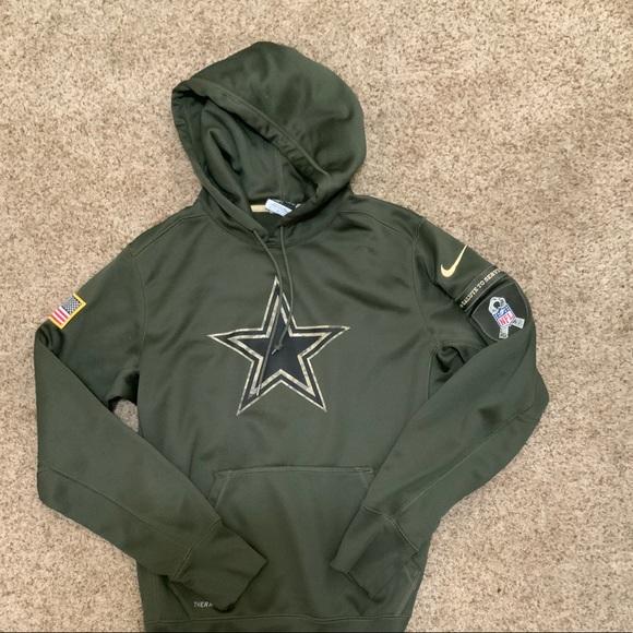 size 40 43b96 63cbf Dallas cowboys Nike salute to service hoodie